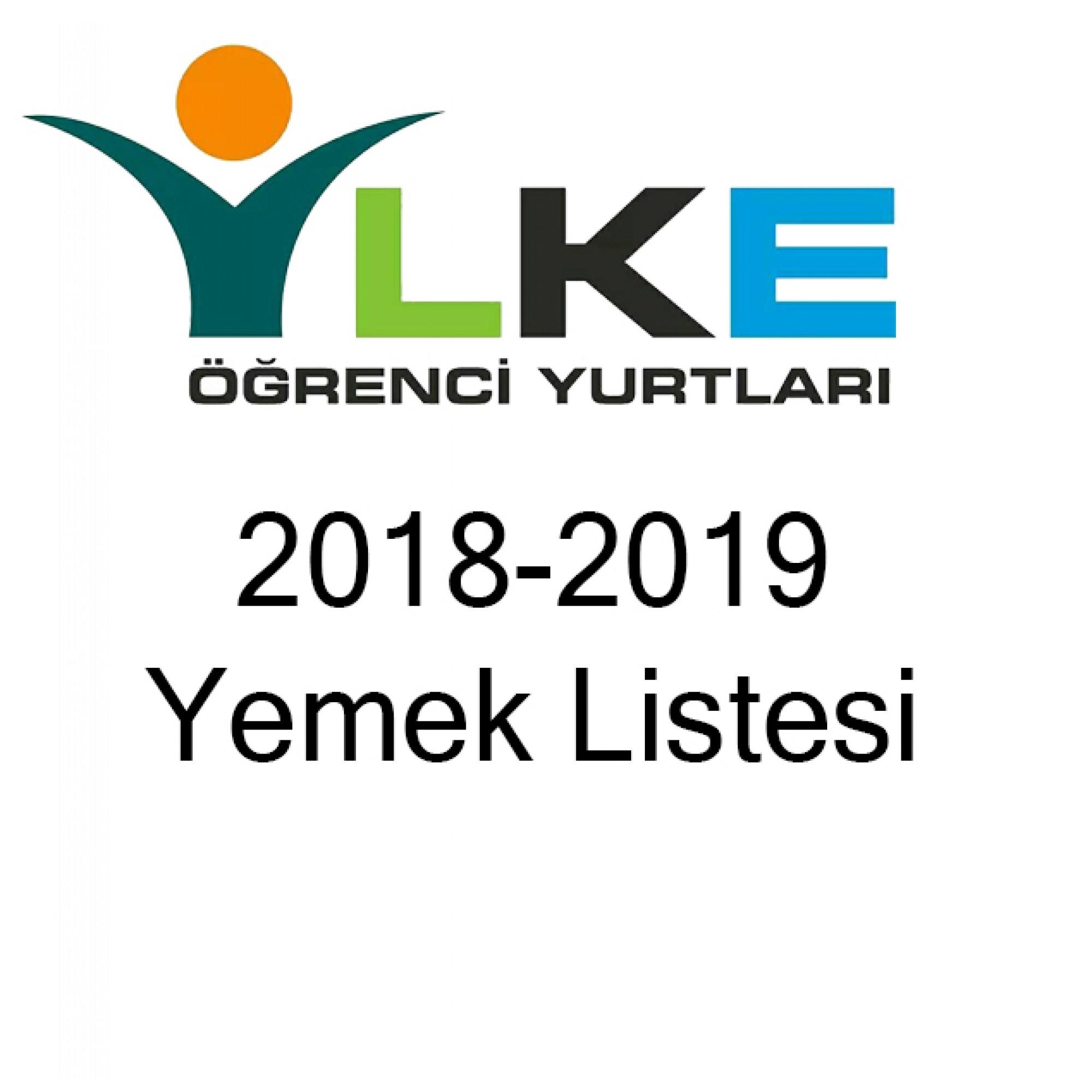 2018-2019 Yemek Listemiz