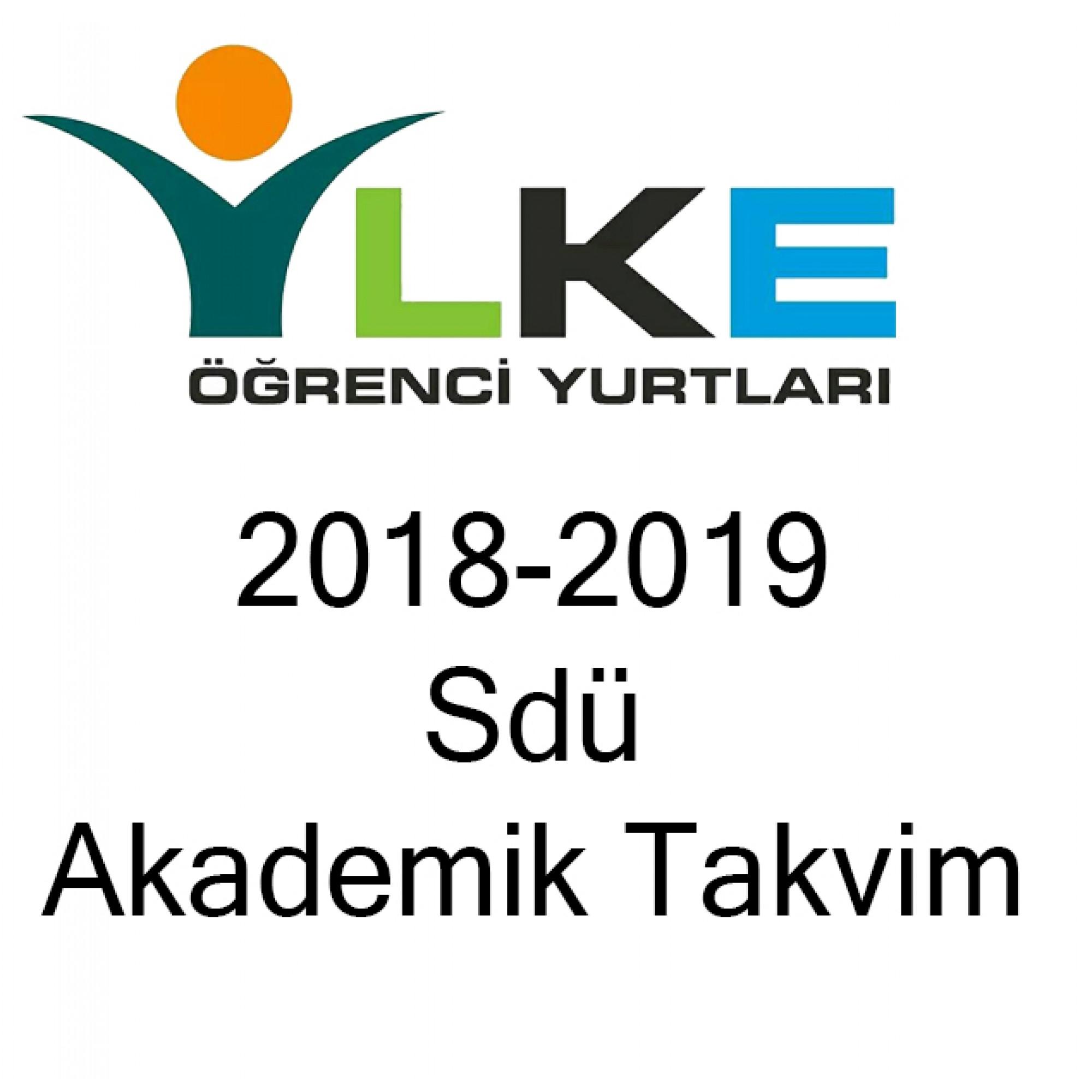 2018-2019 Sdü Akademik Takvim